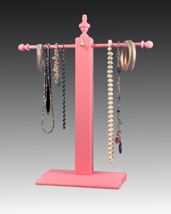 pink necklace stand