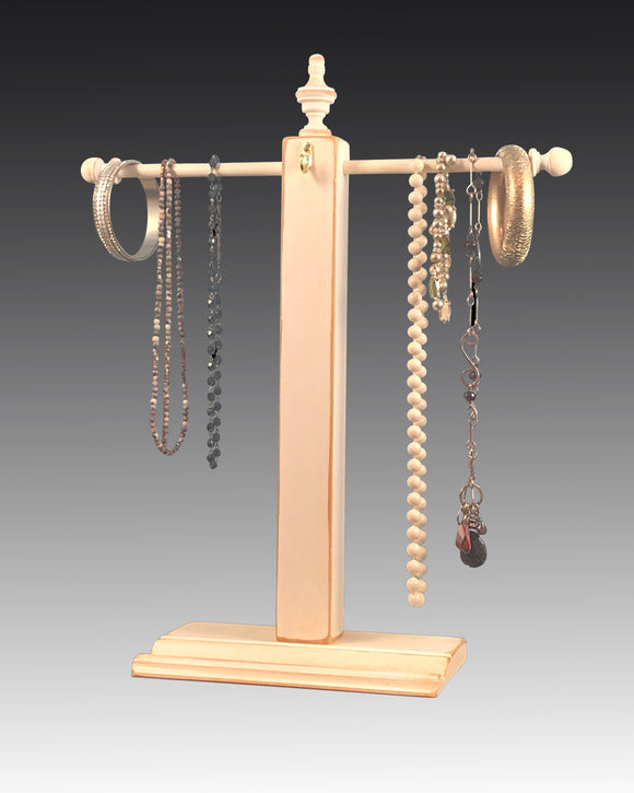 Necklace Stand - White Distressed Earring Holder Gallery