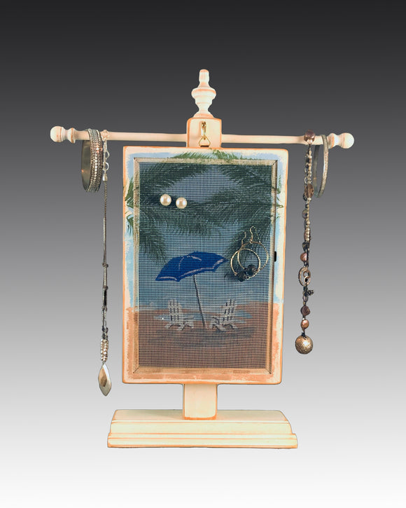 Classic Earring Holder - Beach Umbrella Design - Earring Holder Gallery