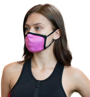 Pink AnitBackterial Face Mask With Filter Pouch