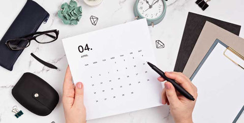 Using calendar to schedule your days and weeks