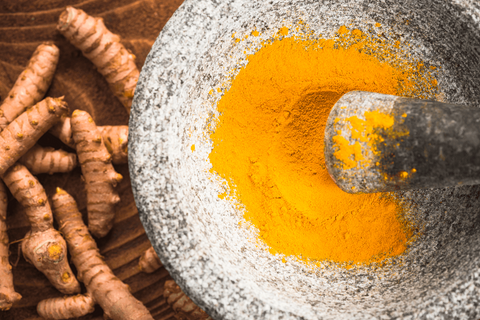 Curcumin powder is often used in CBD product to enhance quality