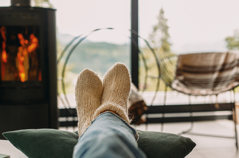 Staying at home relaxed by the window to let your joint recover