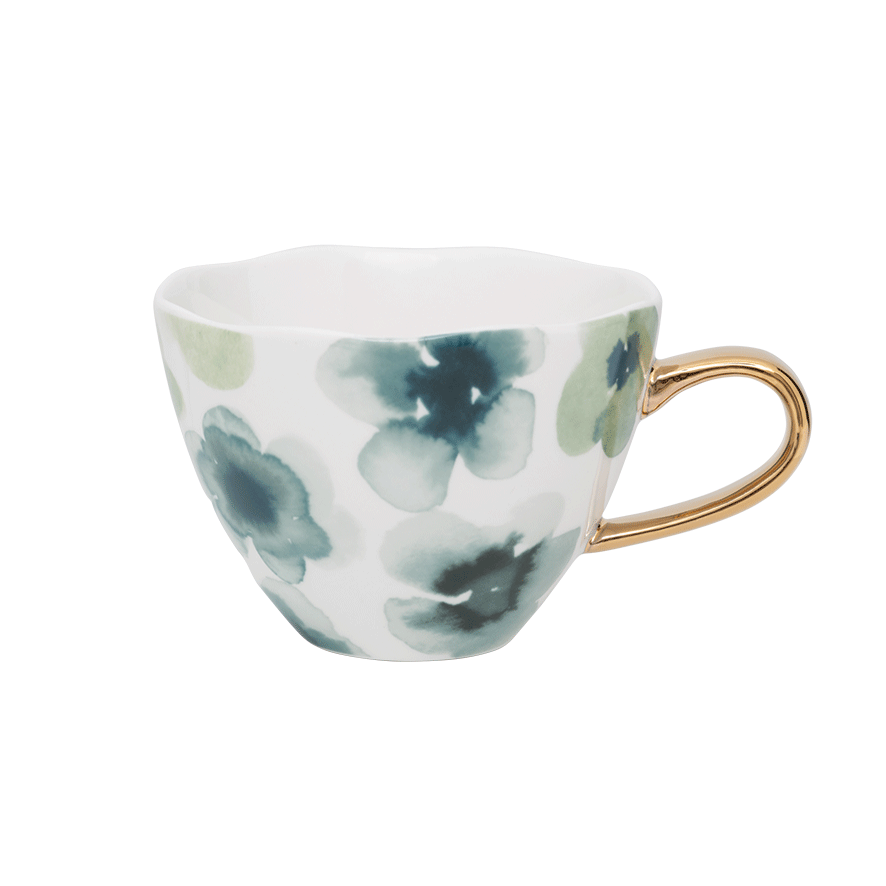Large white / gold mug