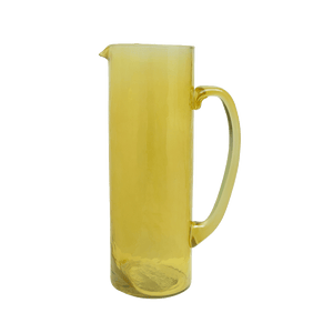 Yellow recycled glass decanter