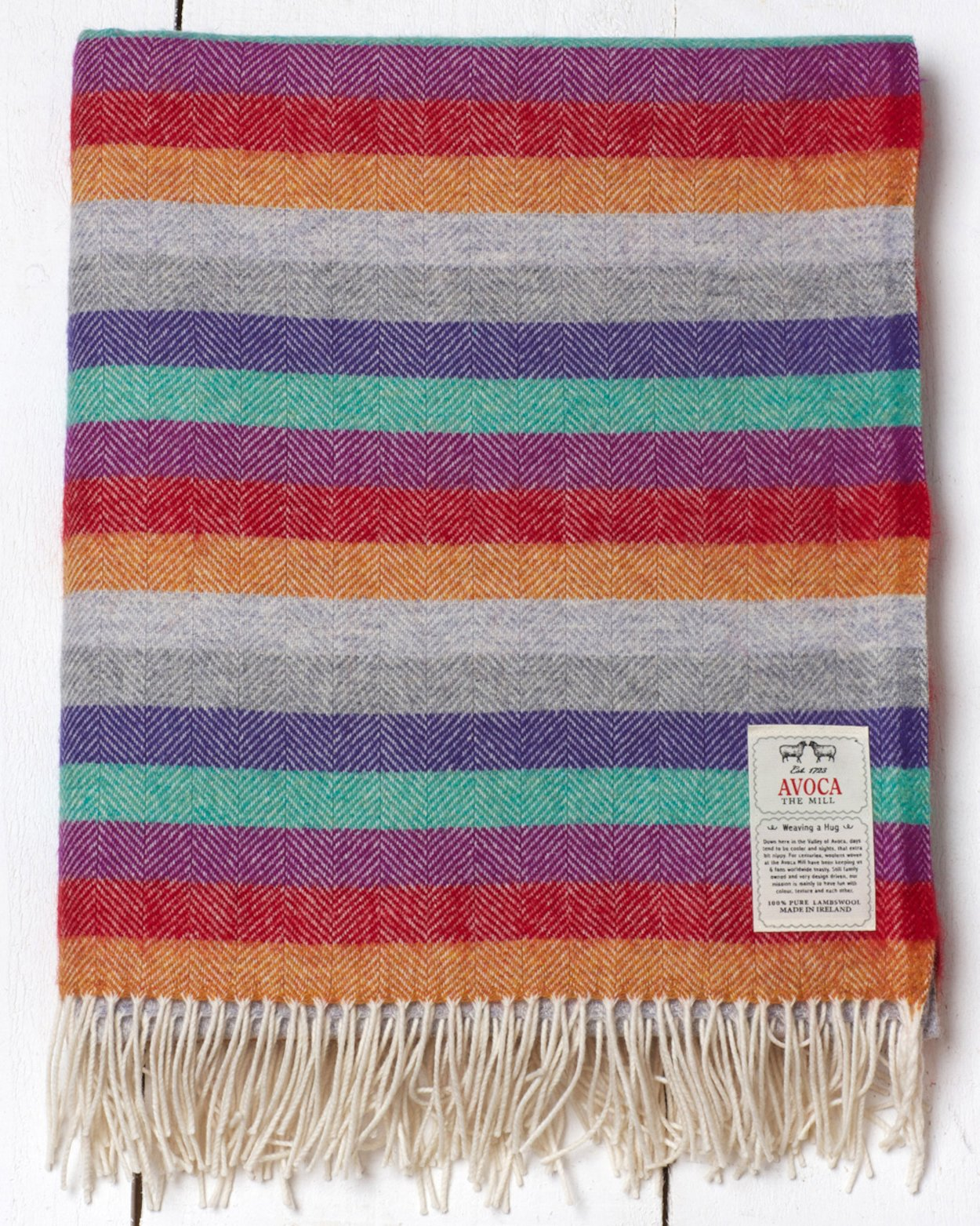 Plaid Lambswool  Electric Stripe