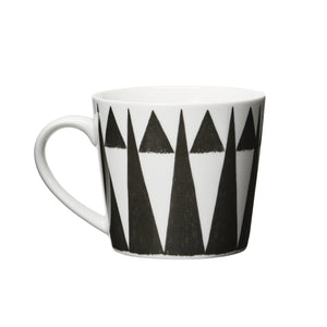 Mug (L) porcelaine Triangle