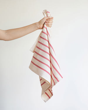 Honeycomb cotton / linen tea towel