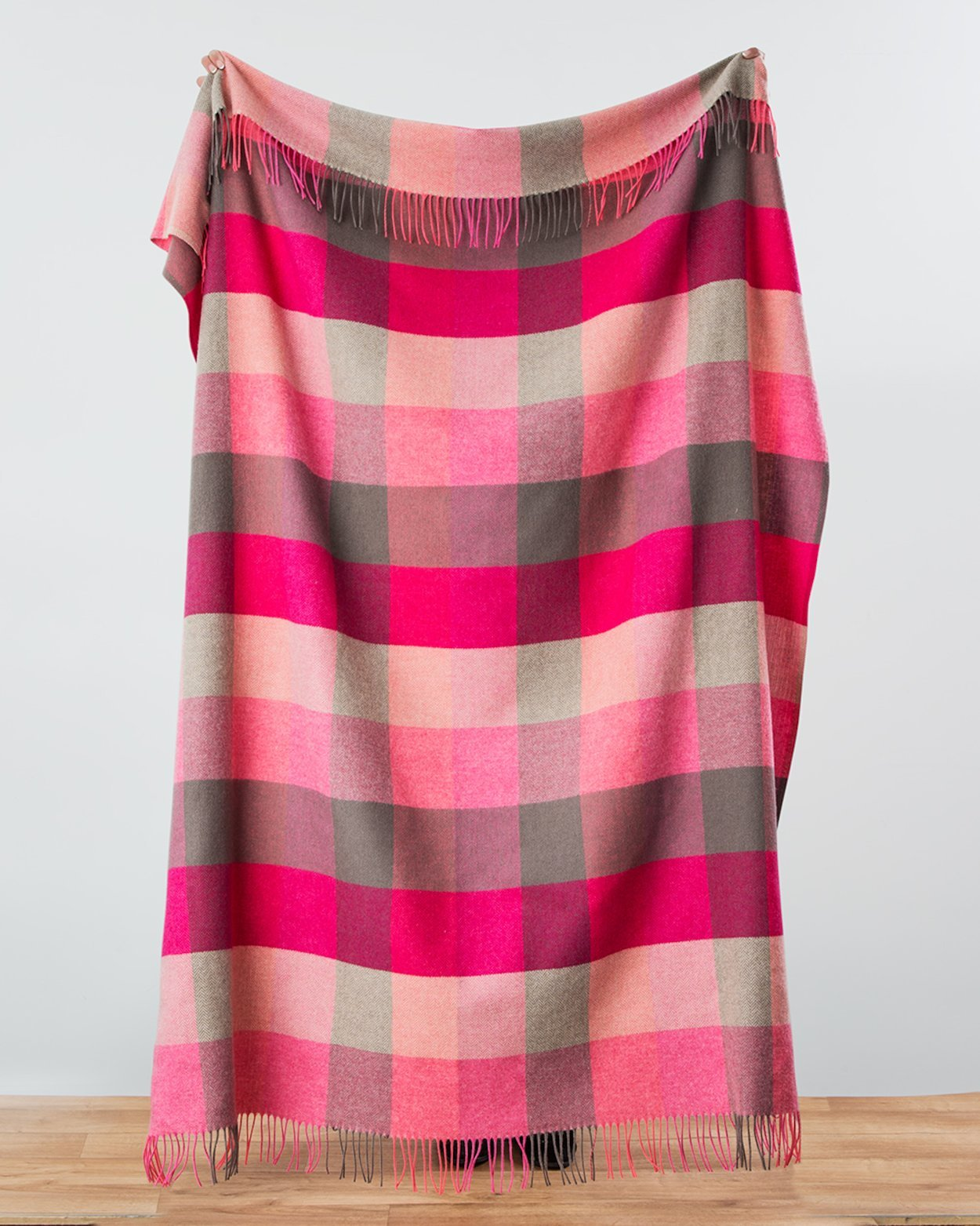 Plaid Lambswool Irlandais - Pink Fields
