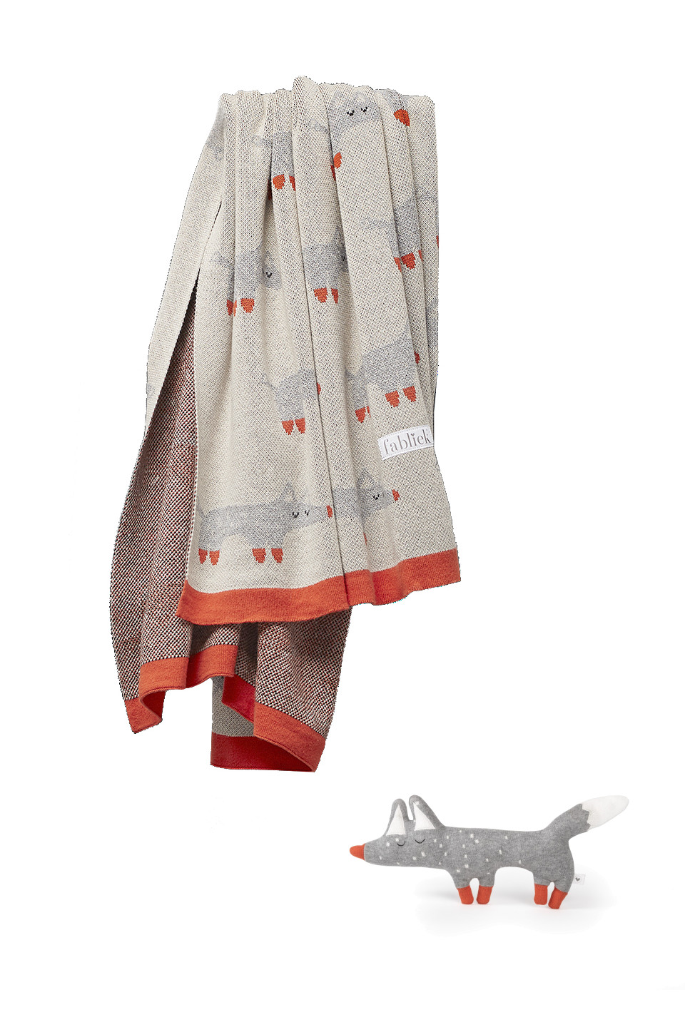 Plaid enfant en coton bio - Renards