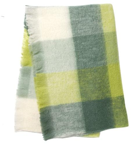 Plaid Mohair Irlandais - Pale Green