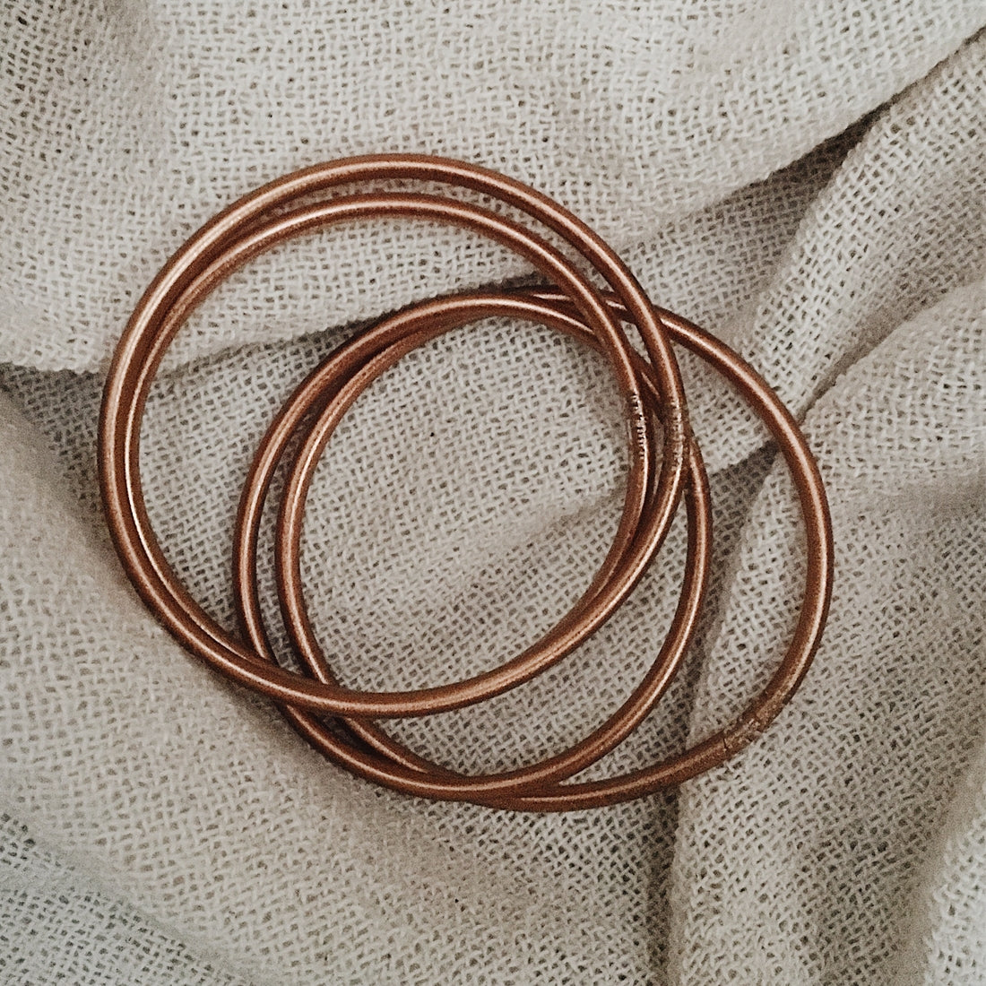 Copper Buddhist Bracelet - fine model