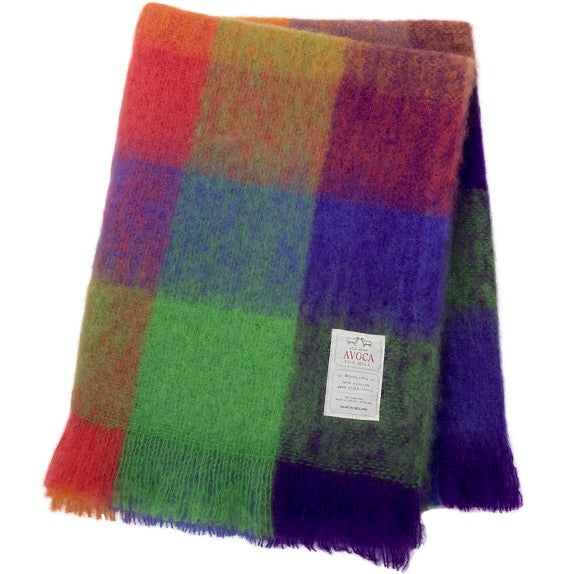 Plaid Mohair Irlandais - Multicolore