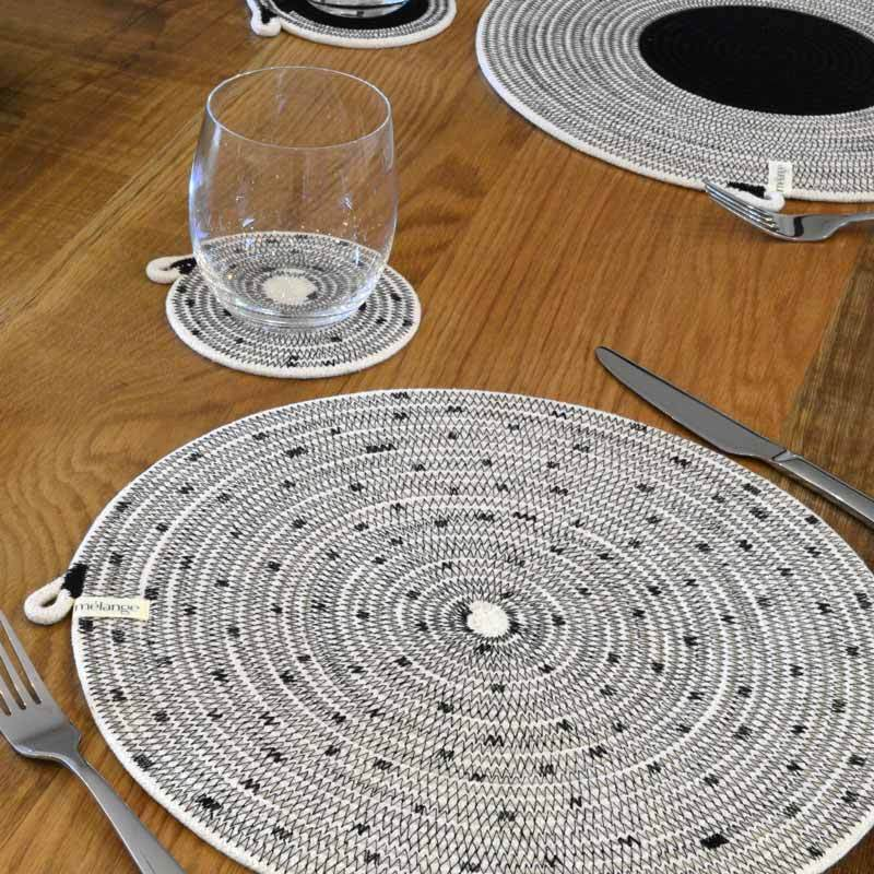 Set de table rond en corde