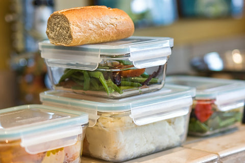glass to storage food, a reusable container plastic-free