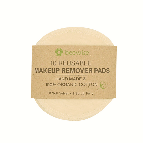 reusable makeup remover pads made with 100% organic cotton