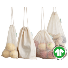 Afbeelding in Gallery-weergave laden, Reusable Produce Bags 100% Organic Cotton