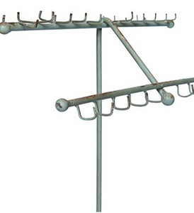 Turq. Metal Jewelry Holder - ClotheBoutique
