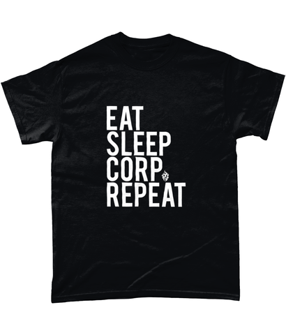 Eat Sleep Corp Repeat Tee