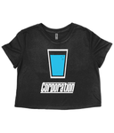 Ladies Blue Pint Cropped Tee
