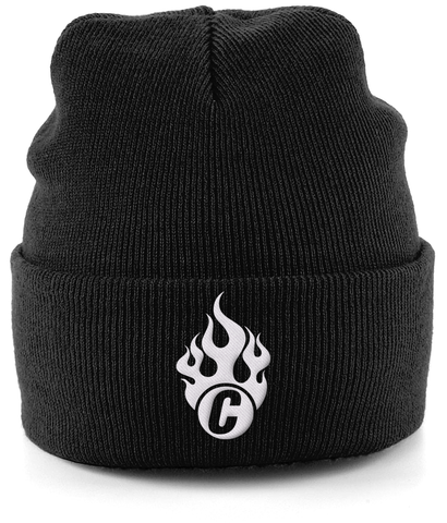 Flaming C Logo Cuffed Beanie