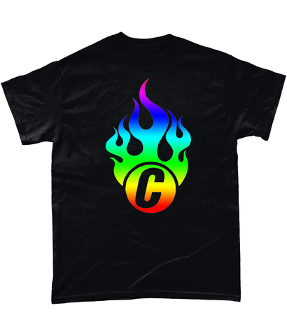 Flaming Rainbow C Tee