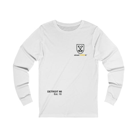 White Street Credit Unisex Jersey Long Sleeve Tee