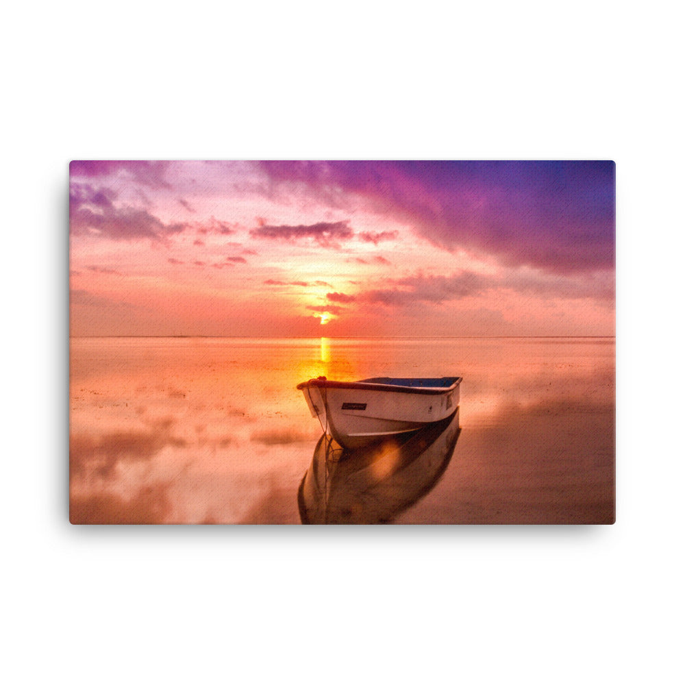 Boat On The Shore Canvas Print