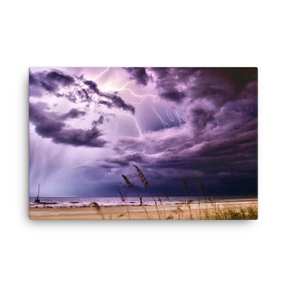Storm Over The Ocean Canvas Print