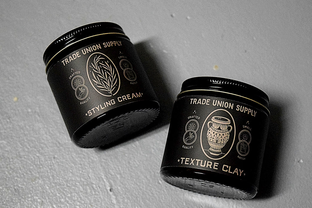 Texture Clay & Styling Cream Pomade Set