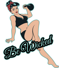 "Load image into Gallery viewer, BLACK ""Be Wicked"" Racerback Tank - Wicked Bombshell Apparel"
