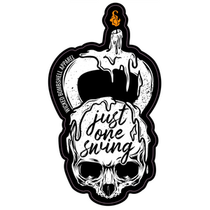 """Just One Swing"" Sticker - Wicked Bombshell Apparel"