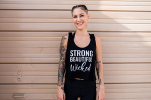 Strong Beautiful Wicked Crop Top - Wicked Bombshell Apparel