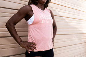 "BLUSH ""All Beauty in this Beast"" Muscle Tank - Wicked Bombshell Apparel"