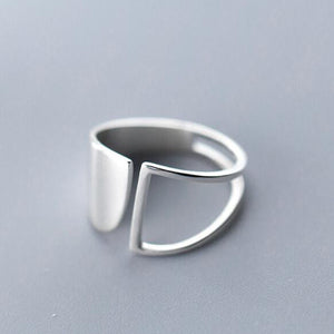 Heloísa Minimalist Silver Sterling Simple Ring