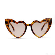Load image into Gallery viewer, Large tortoise colored heart shaped sunglasses