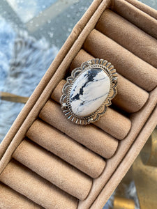 The Rosalie White Buffalo Ring