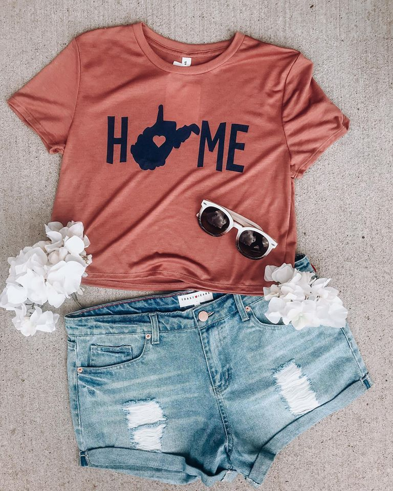 WV is Home Short Sleeve Crop Top // Mauve