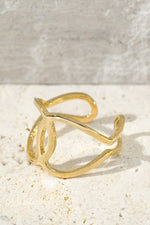 Load image into Gallery viewer, Metal C-Cuff Fashion Ring // Gold