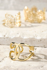 Metal C-Cuff Fashion Ring // Gold