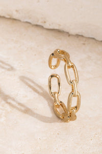 Chain Link Fashion Ring // Gold