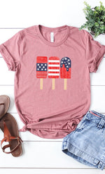 Load image into Gallery viewer, Patriotic Popsicles Short Sleeve Tee