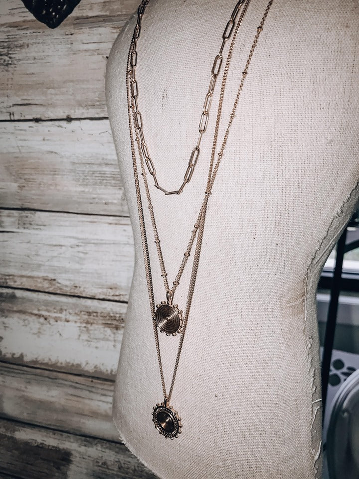 Traveler Layered Necklace // Gold