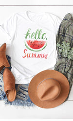 Load image into Gallery viewer, Hello Sweet Summer Short Sleeve Tee
