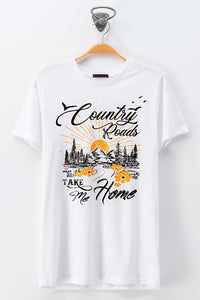 John Denver Inspired Short Sleeve Tee // White