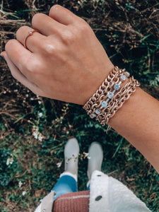 Five Layered Metal Bracelet // Gold