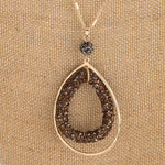 Load image into Gallery viewer, Double Teardrop Pendant Necklace