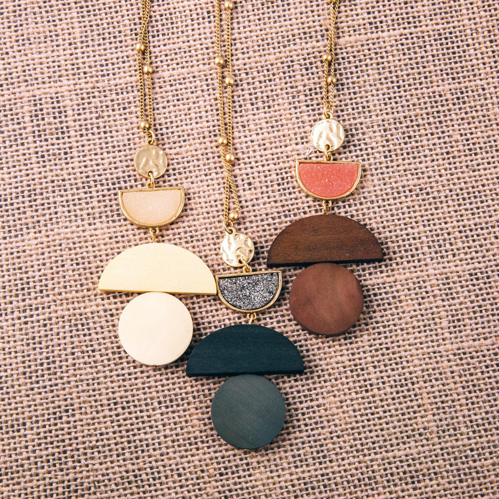Druzy Accent Necklace