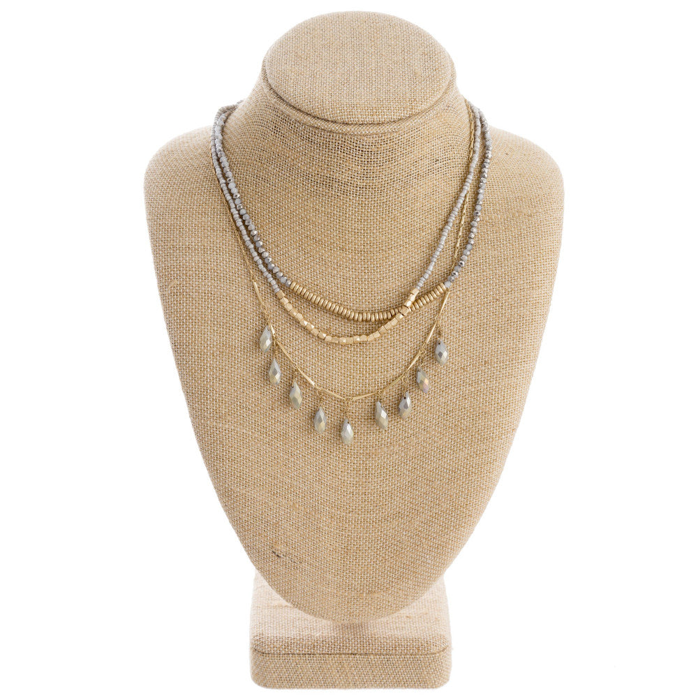 Layered Teardrop Necklace