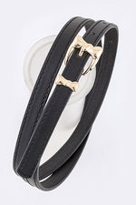 Load image into Gallery viewer, Bow Buckle Skinny Belt